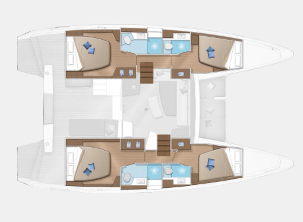 Lagoon 42 - layout