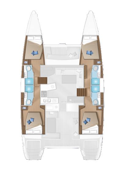 Lagoon 450F - Layout